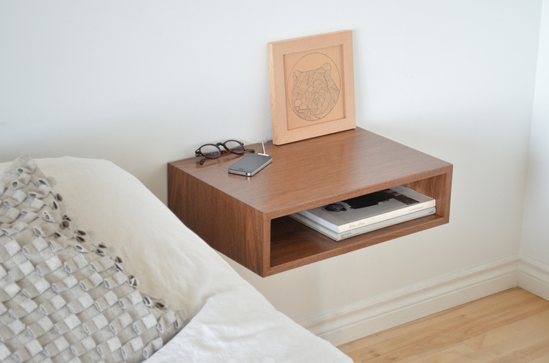 Tyler mckenzie woodwork bedside tables and other jazz for Bedside table shelf
