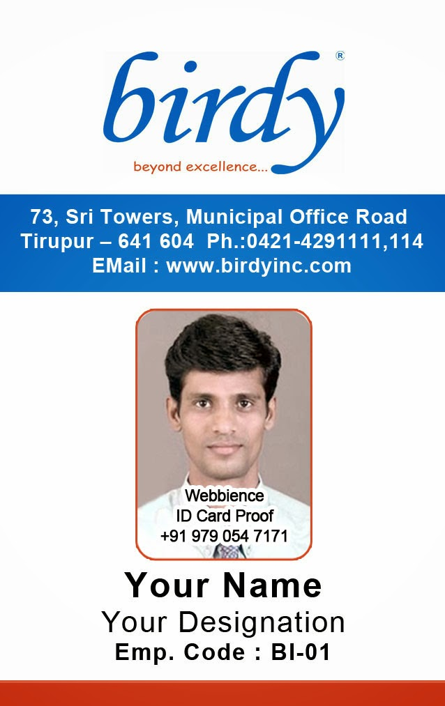 Photo Id Badge Sample Template. Employee Id Template 5. Employee
