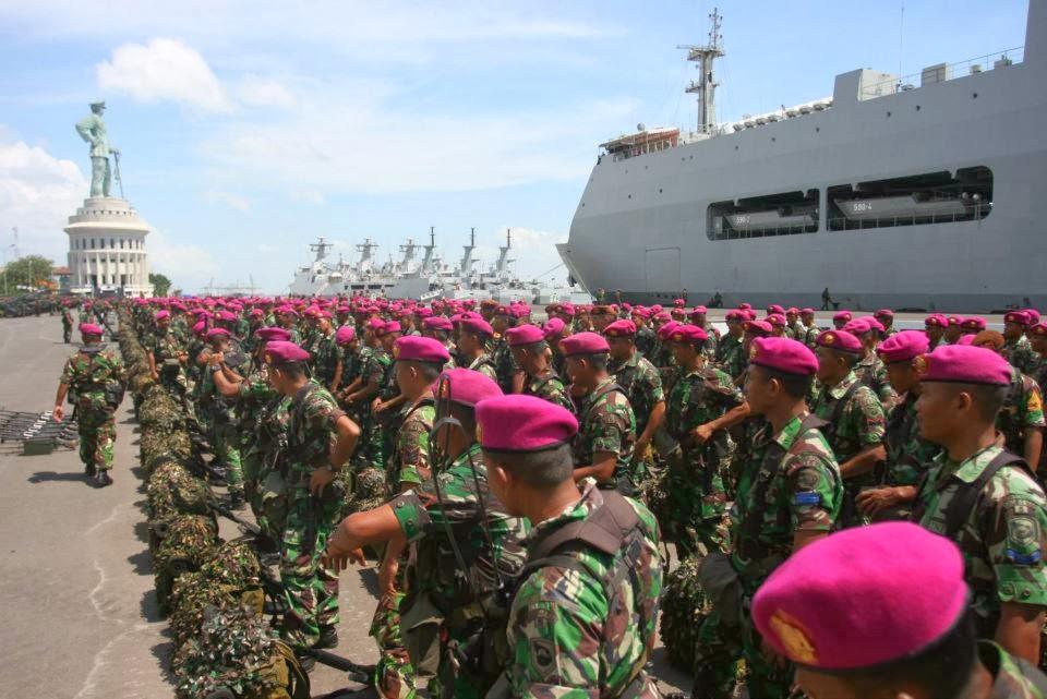 Satu Batalyon Prajurit Marinir Siaga Bencana