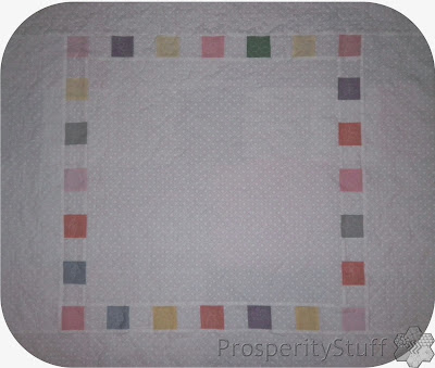 ProsperityStuff baby quilt - white with squares
