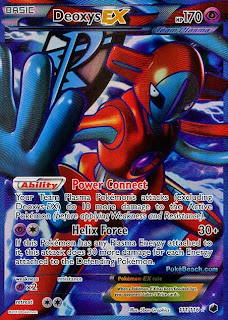 Deoxys EX Full Art Plasma Freeze Pokemon Card