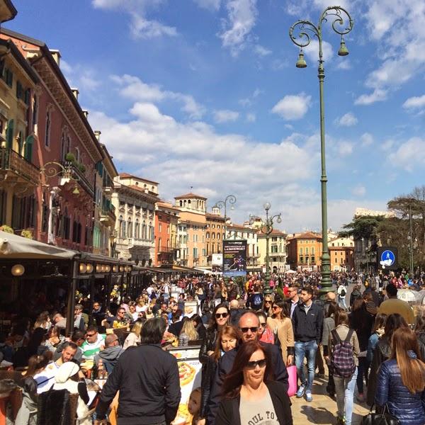 Piazza Bra, Verona.