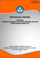 Bantuan Rintisan PAUD (KOBER,TK,SPS)