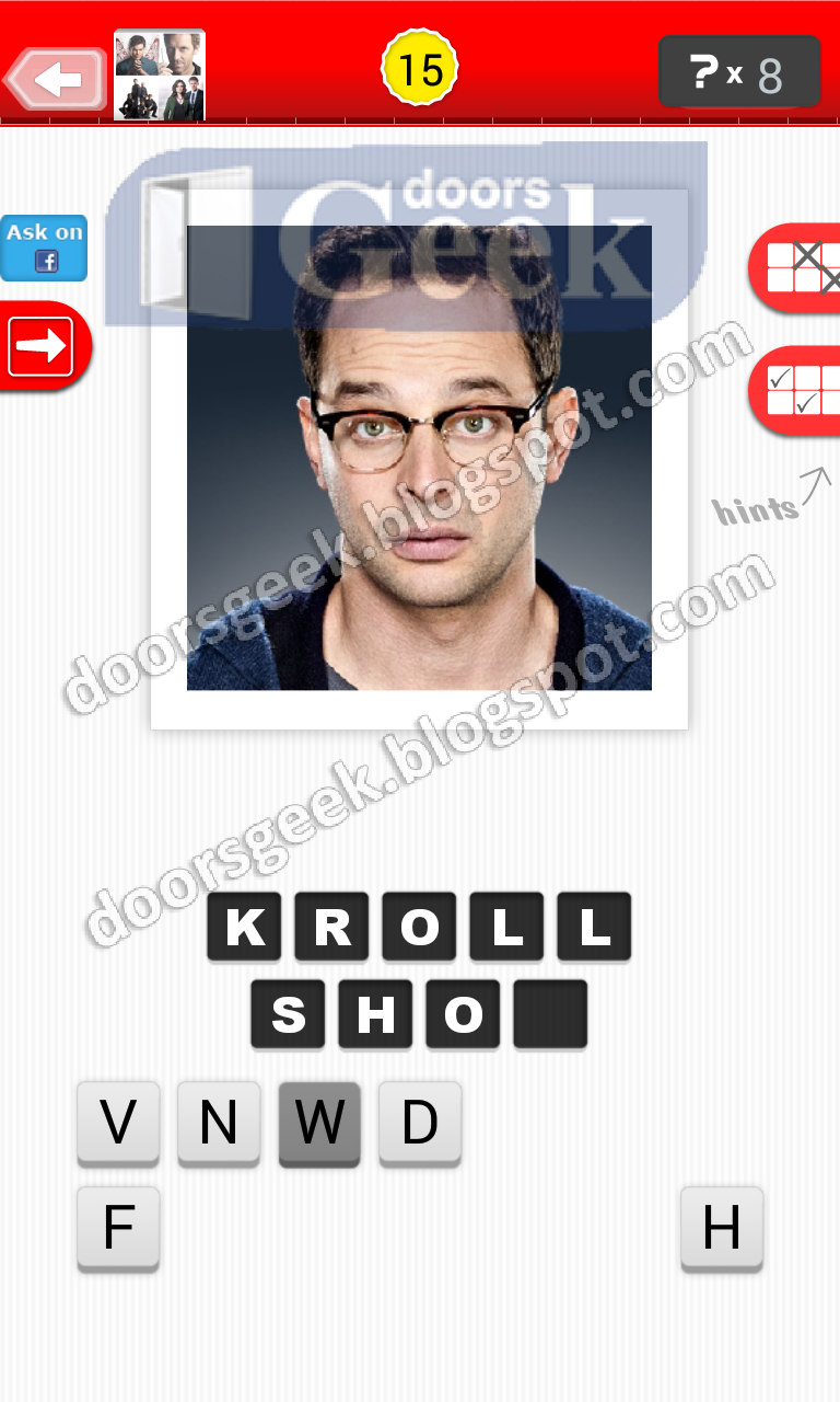 answer kroll show guess the tv show level 9 15 answer cheats solution