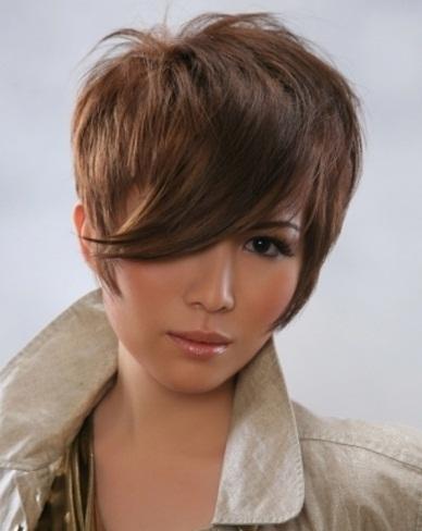Short Glossy Hair Style 2014