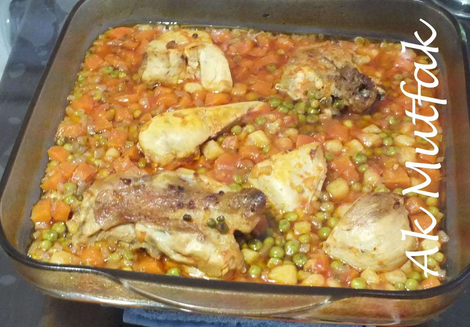 Tavuklu Bezelye Yemeği — Resimli Yemek Tarifleri