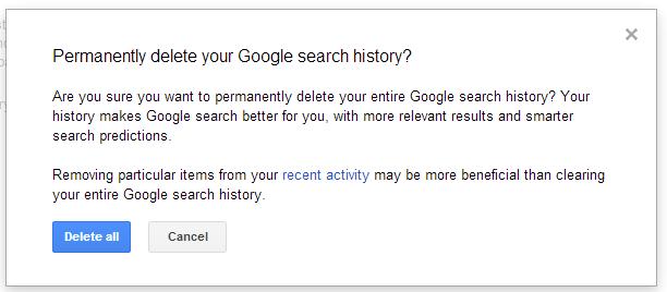 remove - How To Remove All Your Google Web History? Delete+all