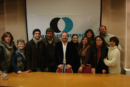 Parte del grupo de Los Toldos junto a Martín