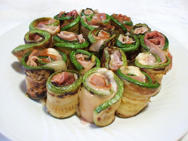 Rotolini - involtini di zucchine, prosciutto di Praga e Formaggio