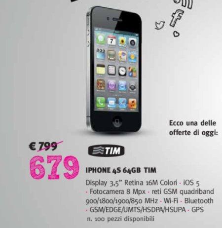 Il 25 febbraio sconti del 15% su tutti gli smartphone e cellulari tra cui anche l'iPhone 4S
