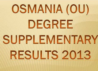 Check Manabadi OU Degree Supplementary Results 2013 at www.manabadi.co.in