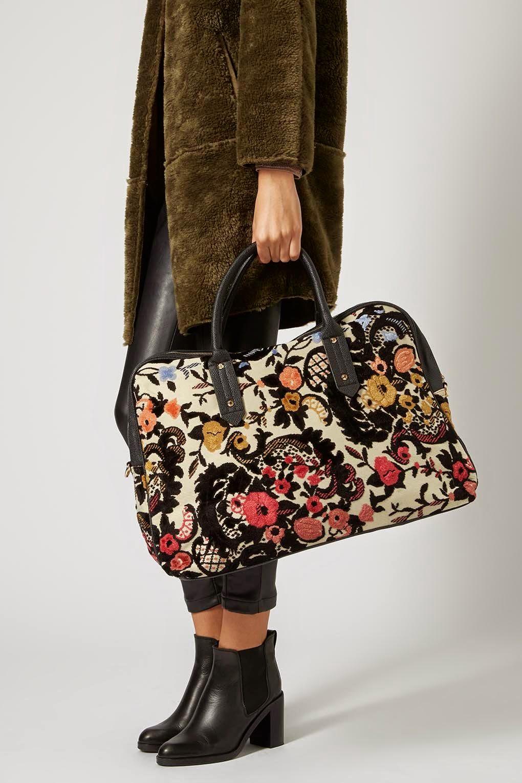 tapestry overnight bag, tapestry bag, topshop tapestry bag,