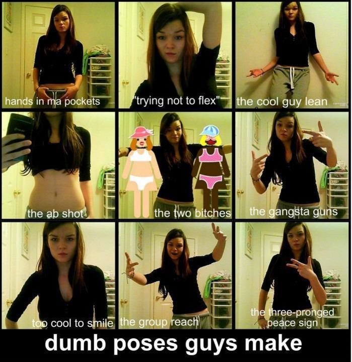 How dumb boys poses while clicking pictures how dumb girlss poses