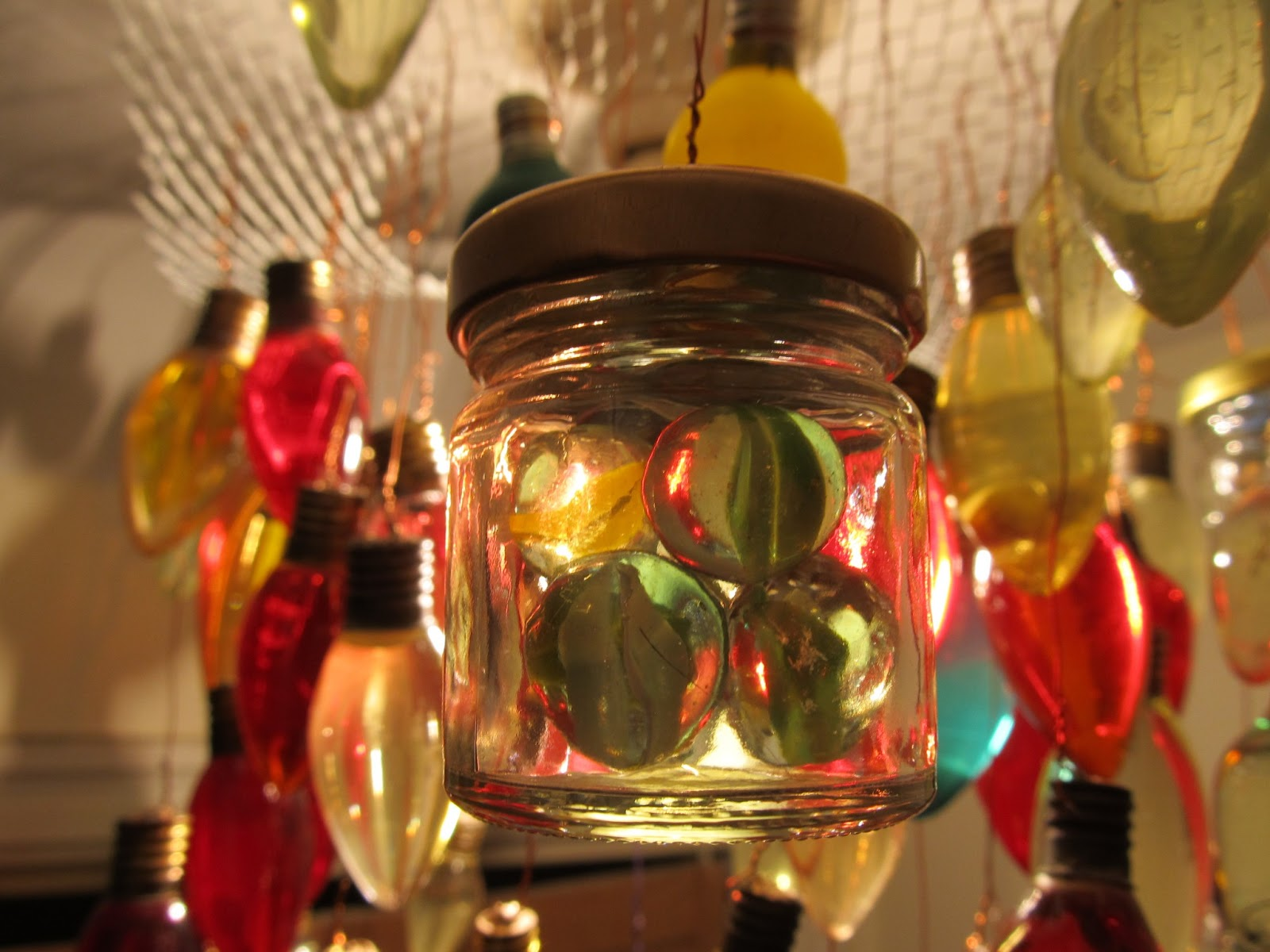 Coloured Marbles - very popular with certain fans of lightbulb art