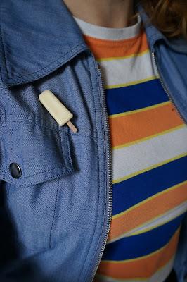 vintage batonnet de glace broch brooch ice stick vanilla vanille années 70 80 1970 1980 70s 80s