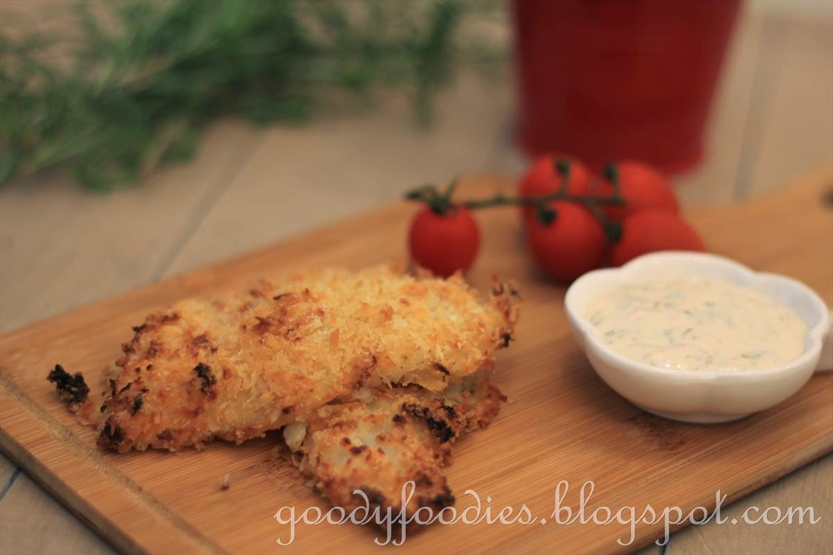 Goodyfoodies recipe oven baked fish and chips easy for Fish in oven