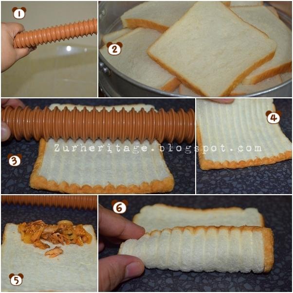 ... Kukuskan roti selama 4 hingga 5 minit- aku prefer guna roti Gardenia