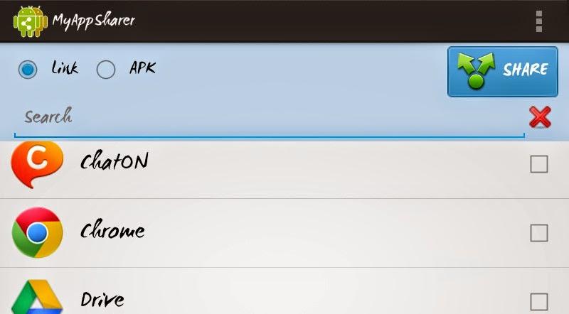my appsharer لارسال البرامج للأندرويد