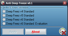 unfreeze or thawed deepfreeze without password
