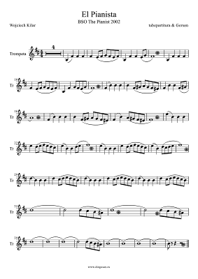 Banda Sonora El Pianista de Wojciech Kilar Partitura para Trompeta