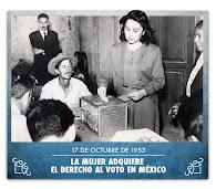 17 de octubre 1953. La mujer adquiere el derecho a votar en México