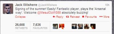 Jack Wilshere Twitter transfer deadline day