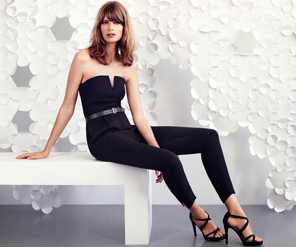 H&M moda festa macacão cinto e sandália