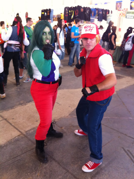 She-Hulk y Andy Bogart en la Comic Con Spain 2012