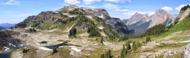 View from Yellow Aster Butte toward Tomyhoi Peak
