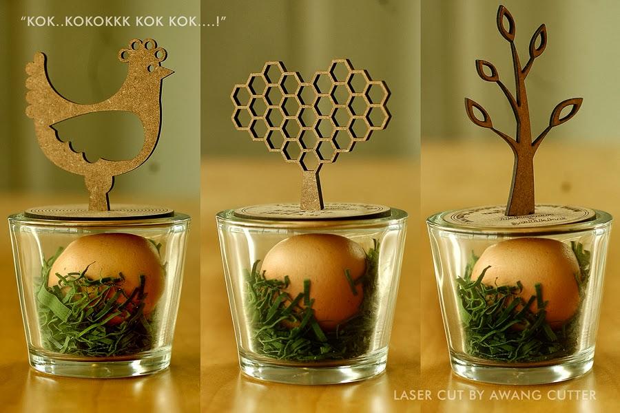 Awang cutter projex unique laser cut egg holder wedding for Idea door gift kahwin 2013