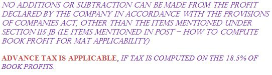CONCEPT OF MINIMUM ALTERNATE TAX