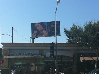 My super model sister's new billboard in West Hollywood