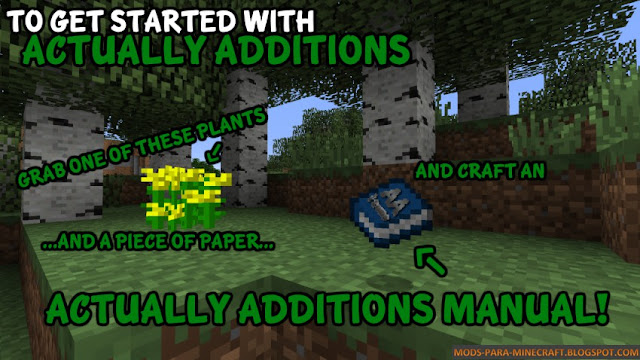 Actually Additions Mod para Minecraft 1.7.10/1.8.9