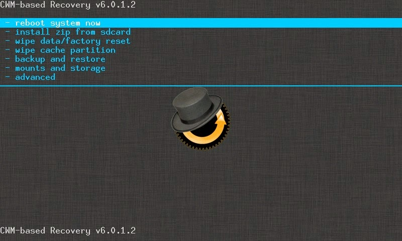 CWM Recovery Mode Android Versi 6.0.1.2