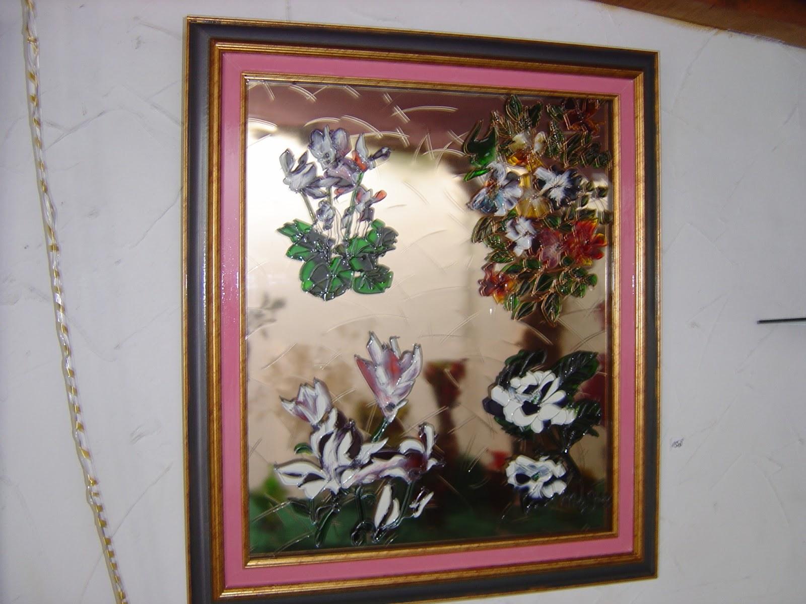 le verre soi peinture sur verre travaill vieux rose le printemps 120. Black Bedroom Furniture Sets. Home Design Ideas