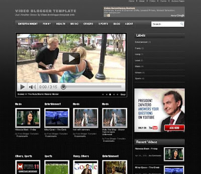 Video Blogger Template