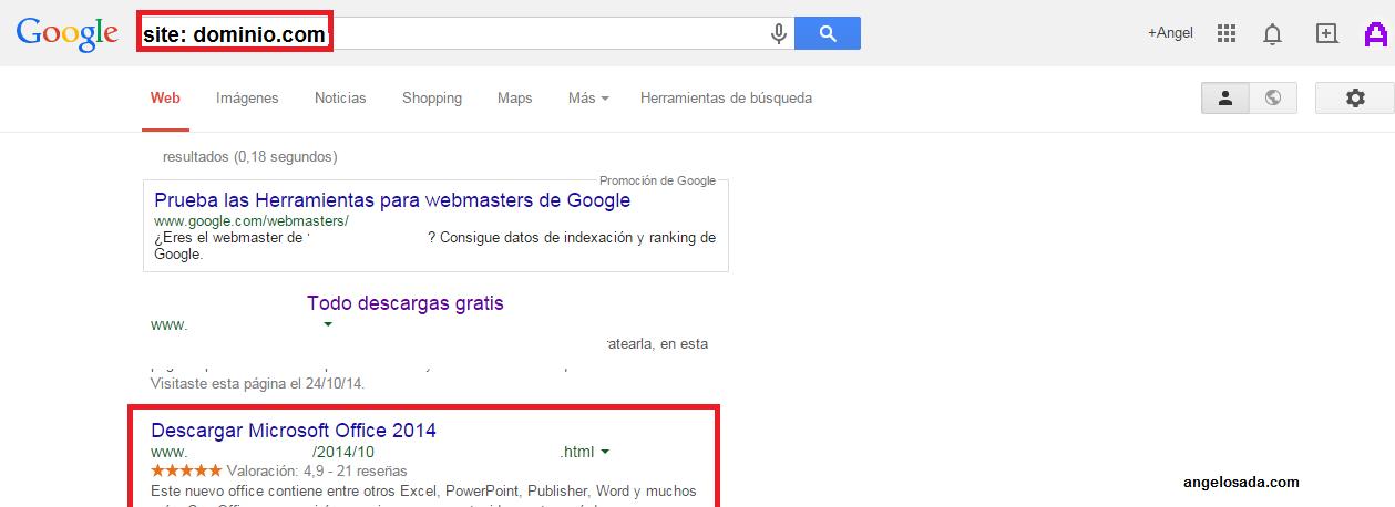 Poner estrellas en los resultados de Google