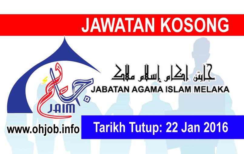 Jawatan Kerja Kosong Jabatan Agama Islam Melaka (JAIM) logo www.ohjob.info januari 2016
