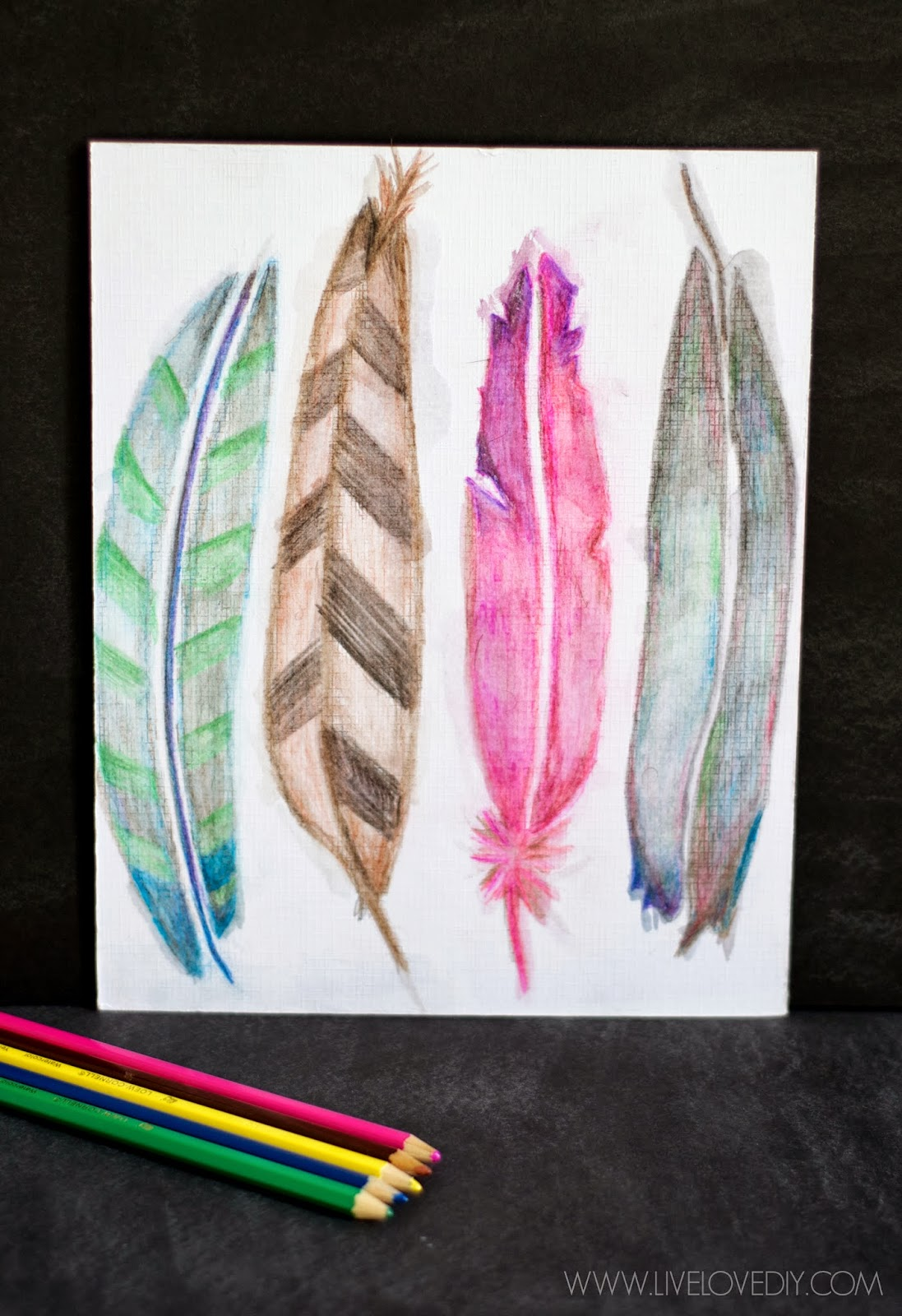 Livelovediy How To Use Watercolor Pencils Aka My Favorite New Way