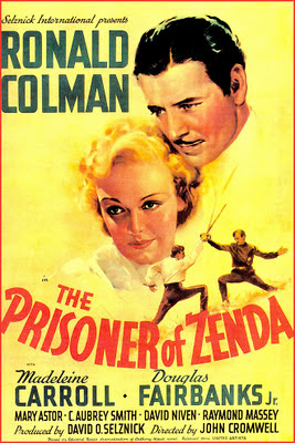 poster de cine antiguo el prisionero de Zenda