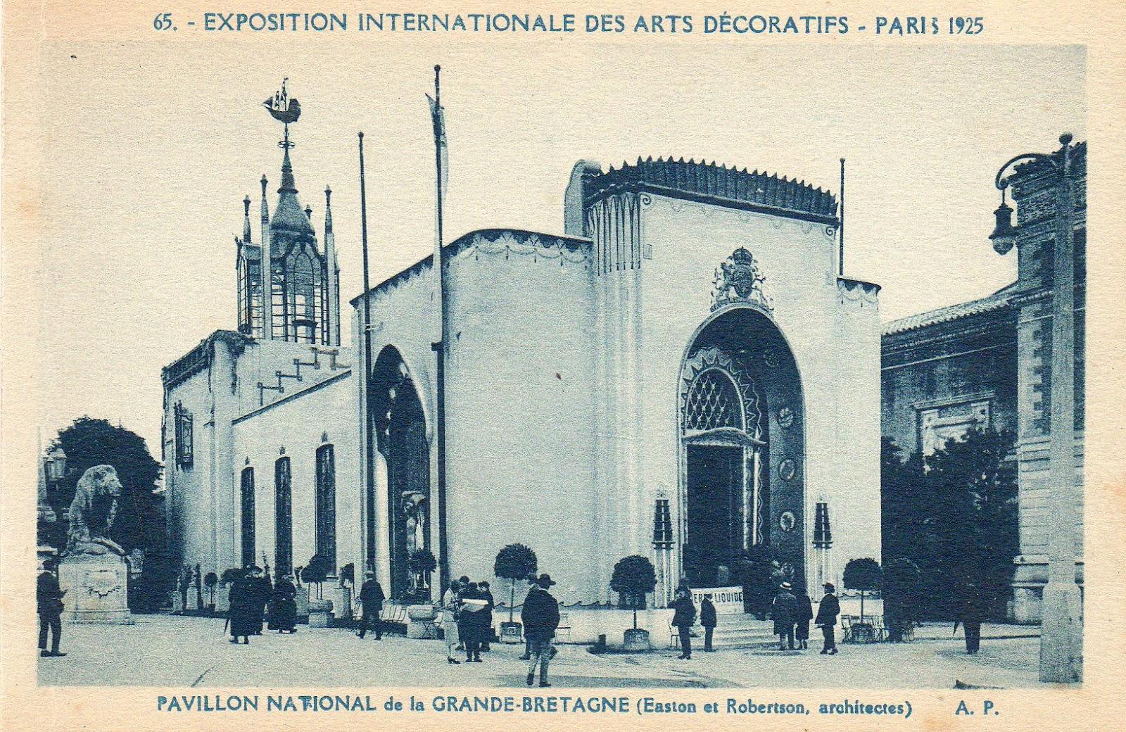 Paris art d co 1925 pavillon de grande bretagne - Office tourisme grande bretagne paris ...