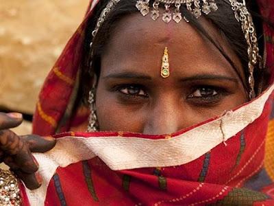 mujer, india,