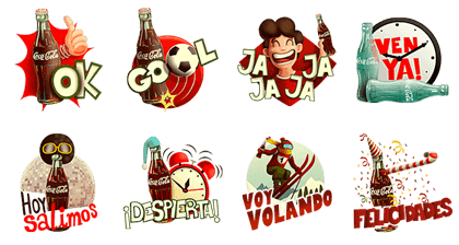 line stickers happiness coca cola stickers free download