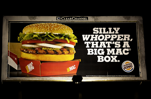 Persuasion and Influence: burger king vs mcdonalds