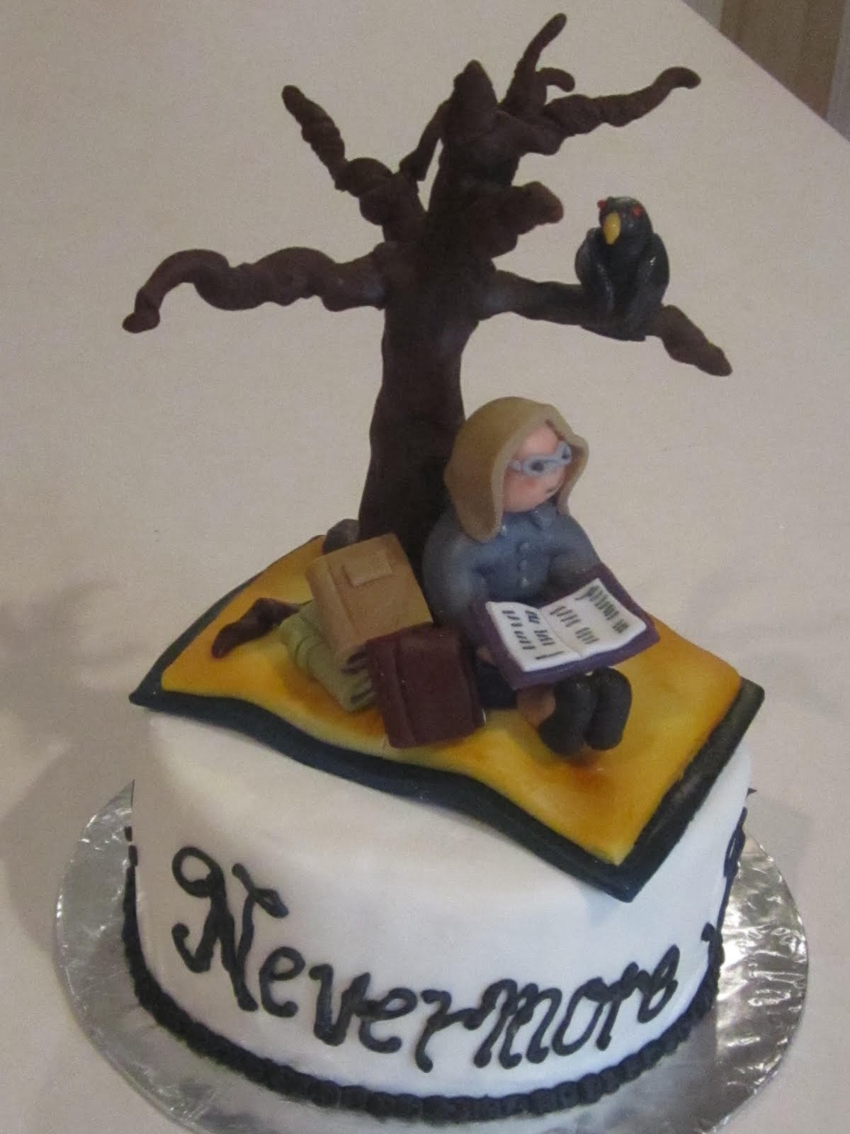 Frosted Insanity Edgar Allan Poe Cake
