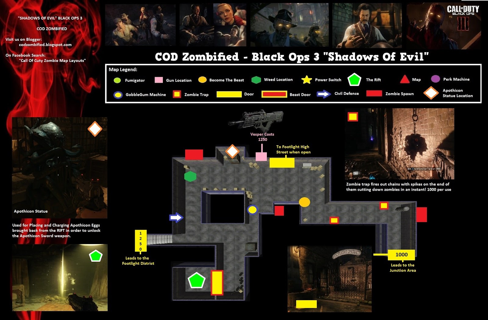 Map Zombie Black Ops 3