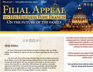 Ergebene Bitte an Papst Franziskus