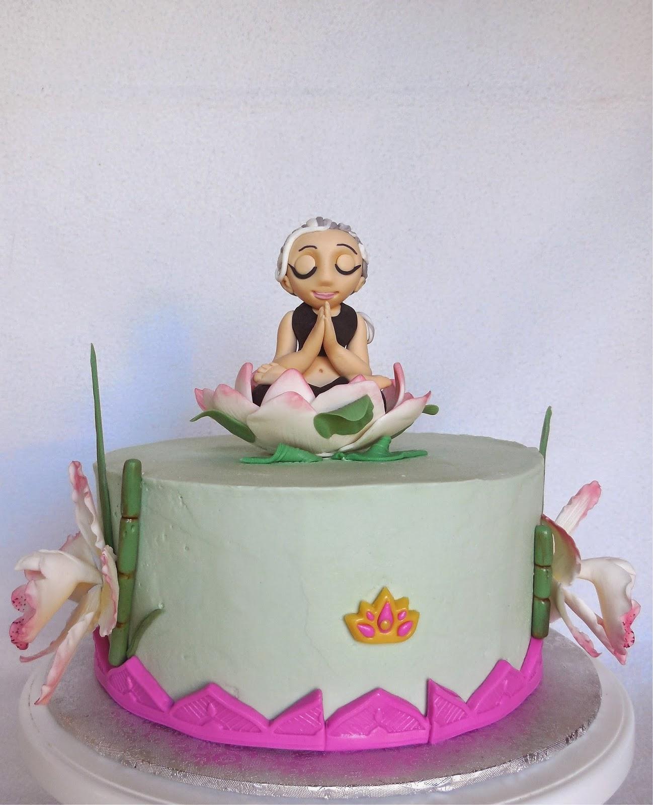 Custom Cakes By Lori Yoga Birthday Cake For An Eighty Year Old