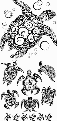 Tribal Sea Animal Tattoo