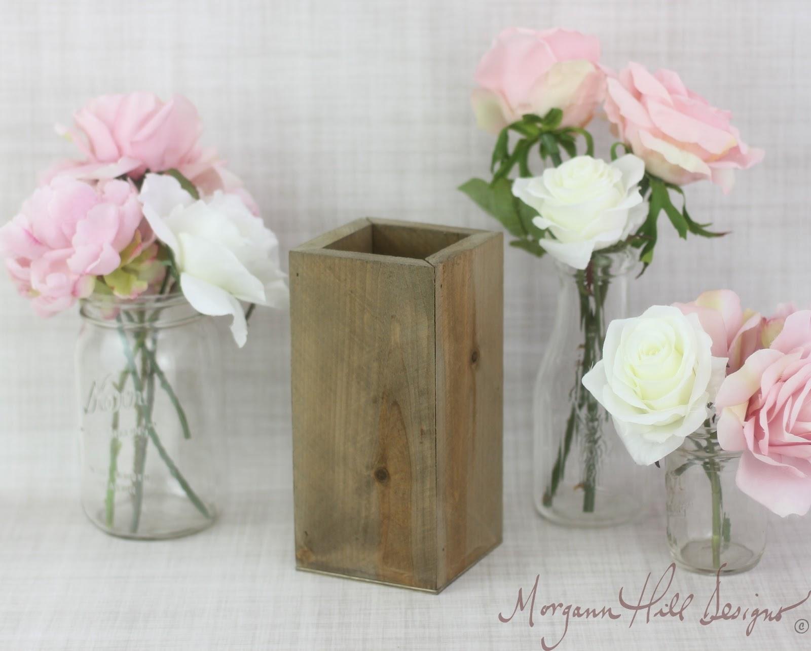 Morgann hill designs tall rustic planter box wedding
